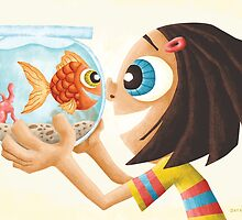 A girl and her fish. by Jeff Crowther