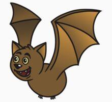 Flying Brown Bat by SpikeysStudio
