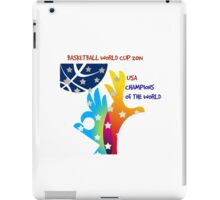 FIBA Official logo decorated with American symbols and text iPad Case/Skin