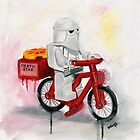 Death Star Pizza delivery by Deborah Cauchi