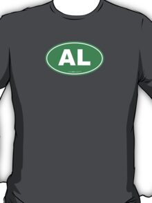 Alabama AL Euro Oval GREEN T-Shirt