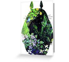 Totoro from Hayao Miyazaki - colorful Greeting Card