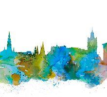 Edinburgh by Watercolorsart