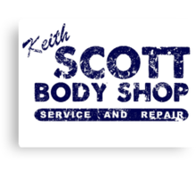 Keith Scott Body Shop Logo Canvas Print