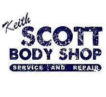Keith Scott Body Shop Logo Photographic Print