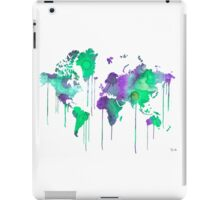 Green WATERCOLOR MAP iPad Case/Skin