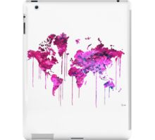 Purple WATERCOLOR MAP iPad Case/Skin
