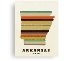 arkansas state map Canvas Print