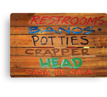 Bathroom Sign Canvas Print