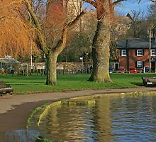 Christchurch Quay and Priory by RedHillDigital