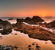 Golden Sunrise Seascape by MarcoBell