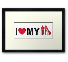 I love my red shoes Framed Print