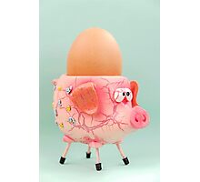 Pig Eggcup Photographic Print