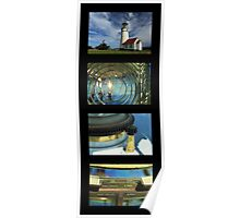 Cape Blanco Lighthouse Tetraptych - P Poster