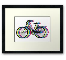 Colorful old bicycle silhouette Framed Print