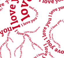 "Red human heart with text ""I love you"" Sticker"