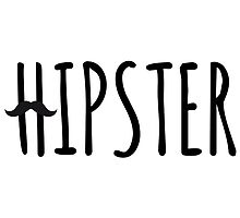 hipster, text design with mustache by beakraus
