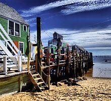 Careful of the long walks on the short pier by Allen Lucas