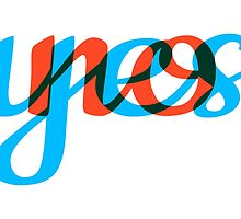 Yes, no, text design, word art by beakraus