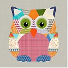 seaview beauty triangles owl by Sharon Turner
