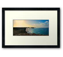The Great Australian Bight. Framed Print
