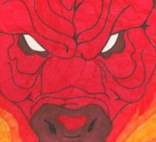 The Red Bull (The Last Unicorn) Sticker