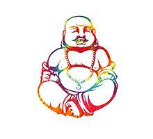 Tie-Dye Buddha Photographic Print