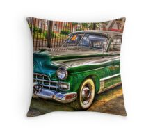 1948 Cadillac-side view full Throw Pillow
