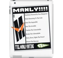 Rated M For Manly! iPad Case/Skin