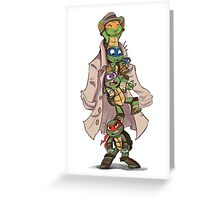 Turtles in a Trenchcoat Greeting Card