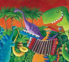 Funky Dinosaur Band by colonelle