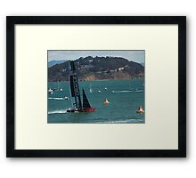 """USA Wins the America's Cup"" Framed Print"