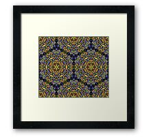 Psychedelic jungle kaleidoscope ornament 10 Framed Print