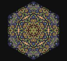 Psychedelic jungle kaleidoscope ornament 10 T-Shirt