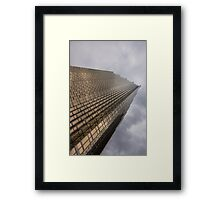Gold and Gray - a Vertical View Framed Print
