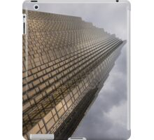 Gold and Gray - a Vertical View iPad Case/Skin