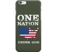 One Nation Under God - USA iPhone Case/Skin