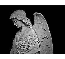 Black and White Angel Photographic Print