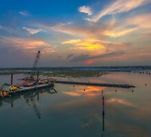 Lymington River Sunset by manateevoyager