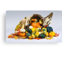 Cornucopia of Thanksgiving Canvas Print