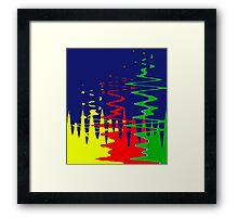 Primary Color Reflections - Blue - Yellow - Red - Green V Framed Print