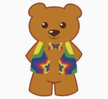 Rainbow Bear by SpikeysStudio