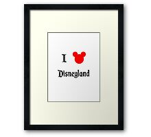 I Love Disneyland Framed Print