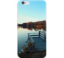 Indian summer sunset at the fishing lake II | waterscape photography iPhone Case/Skin