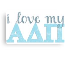Love My Alpha Delta Pi Canvas Print