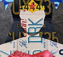 Wonder Woman Superhero Recycled License Plate Art by designturnpike