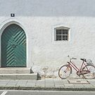 Bavarian Door with Bicycle by Bethany Helzer