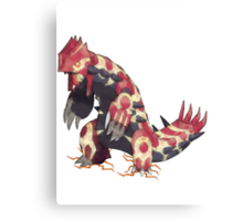 Only Primal Groudon (Pokemon Omega Ruby) Canvas Print