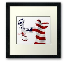American Bow Hunter Framed Print