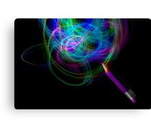 Drawing With Light Canvas Print